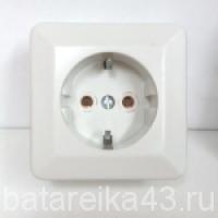 Розетка наруж 1 гн РА16-102 евро