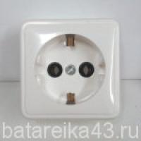 Розетка наруж 1 гн РА16-004 евро