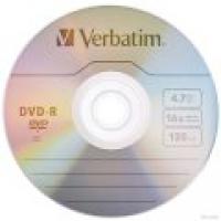 Диск DVD+R 4,7G 8x Verbatim(50) пластик