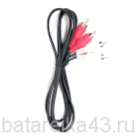 Шнур шт 2RCA - шт 2RCA 1,2м (АС-5018)