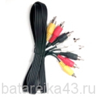 Шнур шт 4RCA-шт4RCA 1,2м (АС-5028)